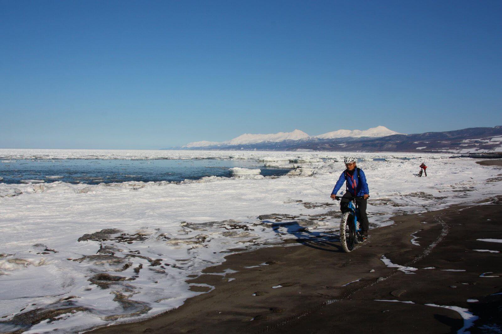 流冰山地自行車探險・斜里海岸路線