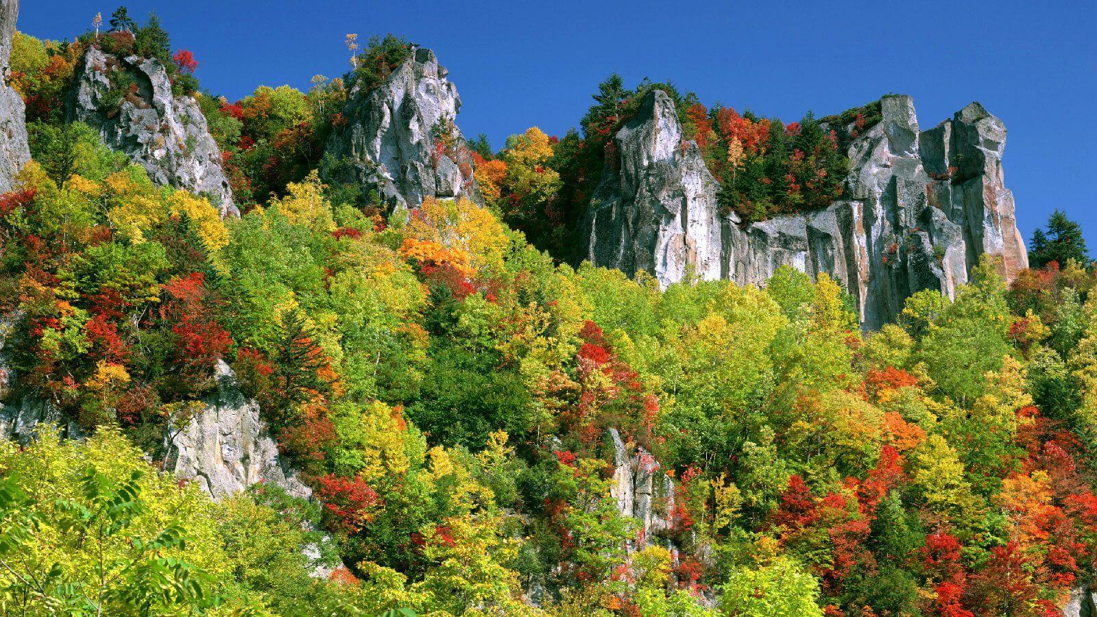 層雲峽:宛如北海道大自然創造的紀念碑