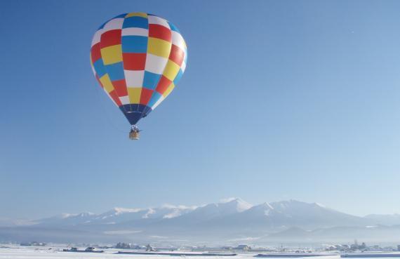 富良野搭乘熱氣球自由飛行體驗