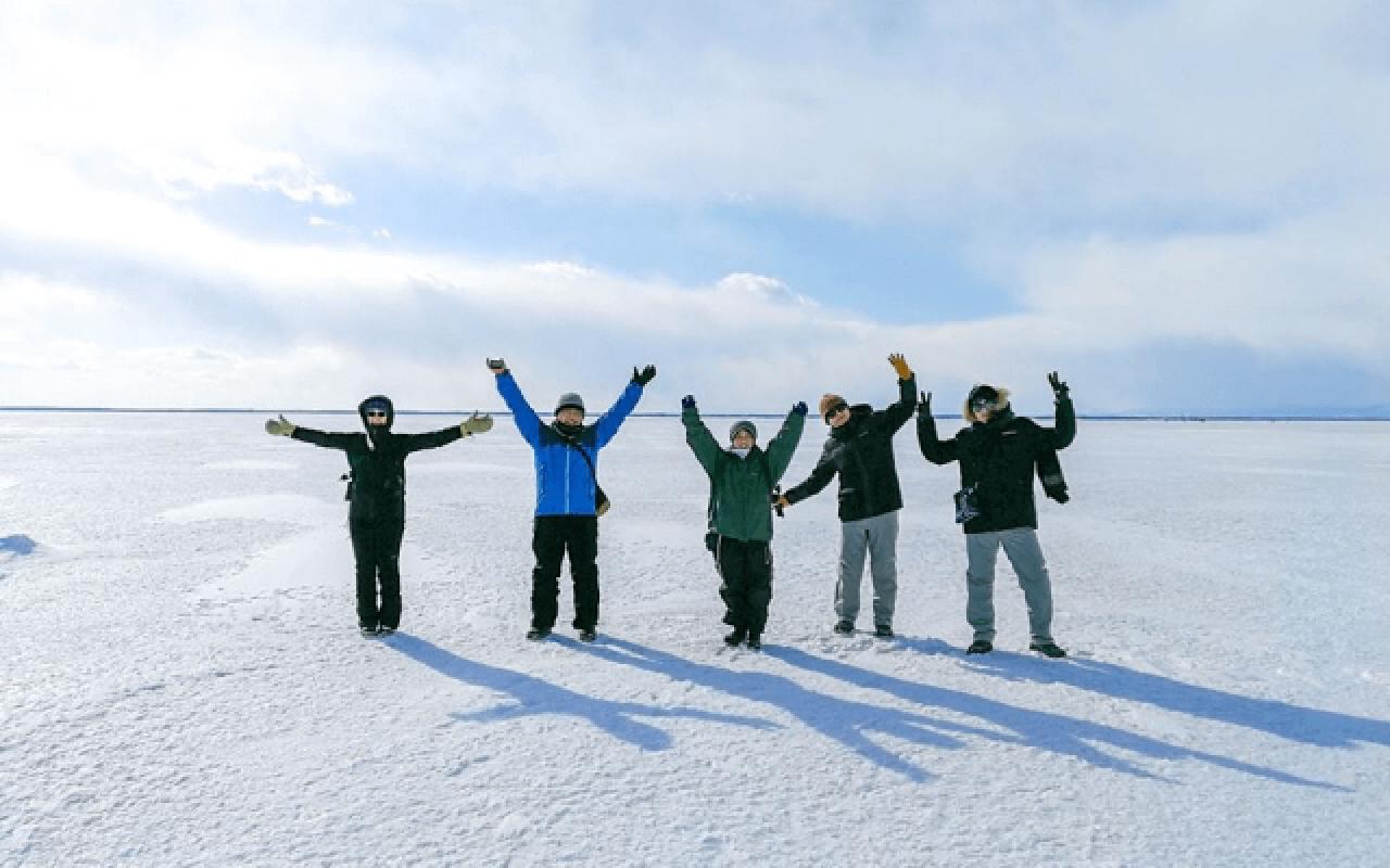 野付半島自然中心:冰平線漫步
