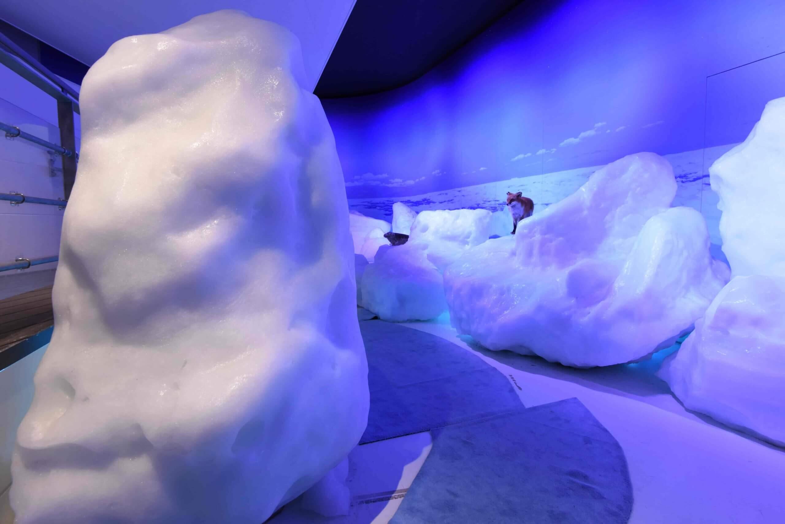 鄰近天都山展望台的鄂霍次克流冰館