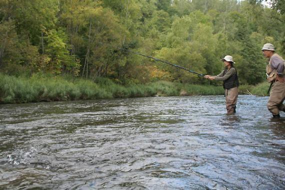 新雪谷尻別川體驗釣魚