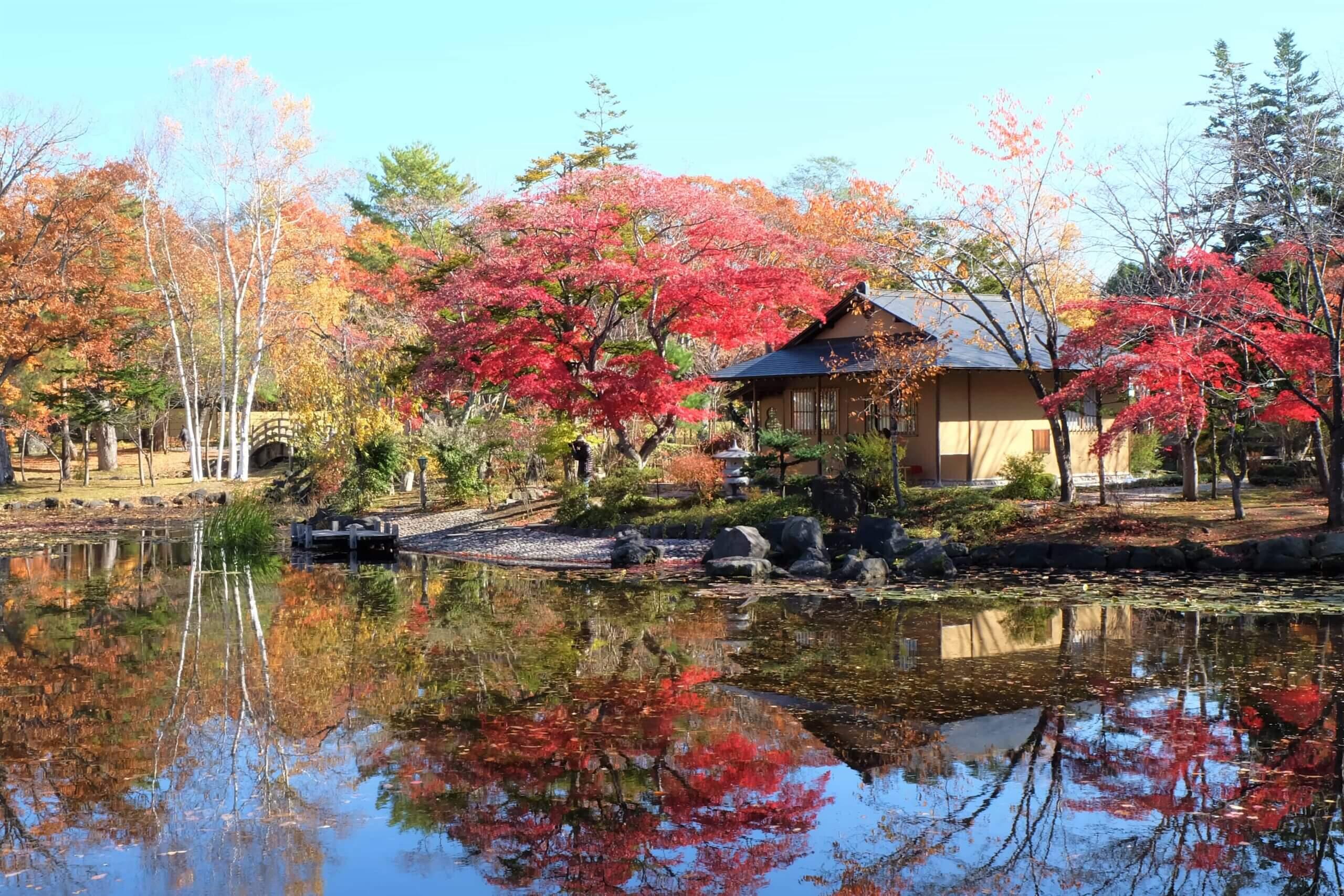 以日式庭園造景聞名的玉泉館跡地公園