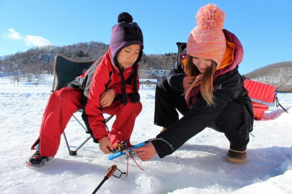 佐幌湖冰上釣西太公魚體驗