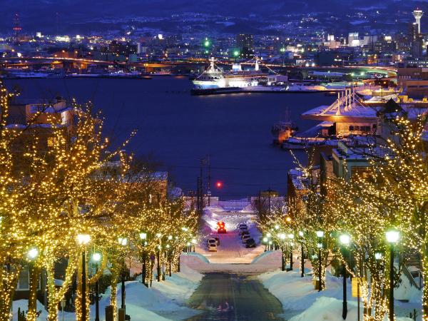 函館霓虹彩燈:12月上旬~2月下旬