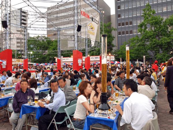 札幌露天啤酒節:7月中旬~8月中旬