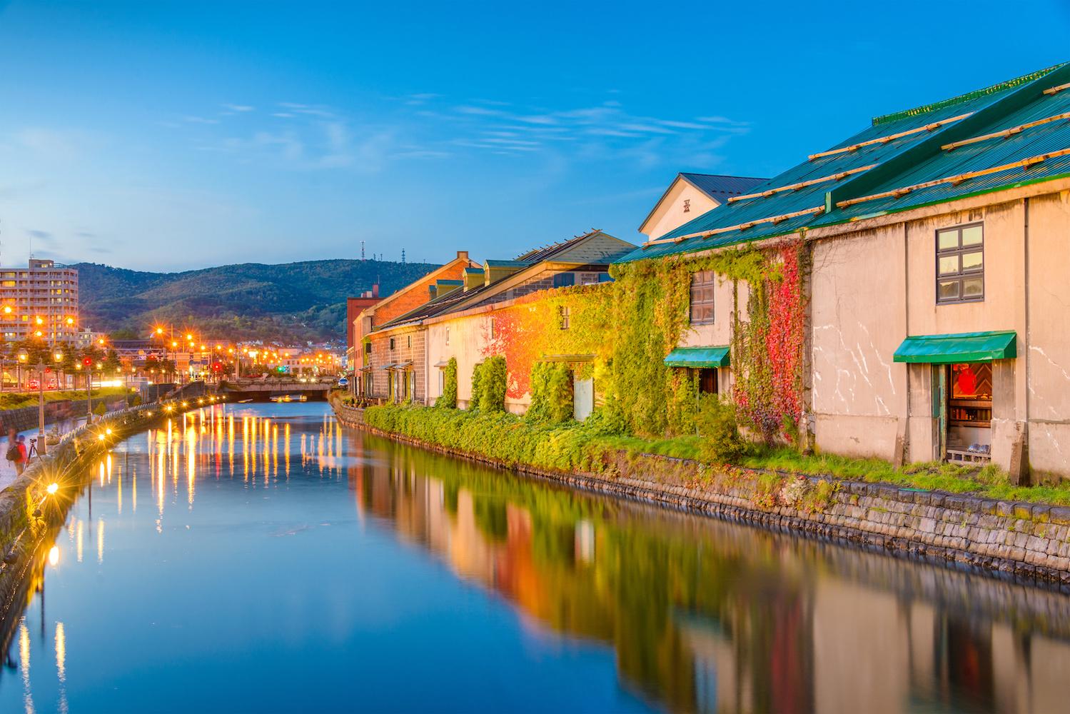 充滿異國情調的小樽運河