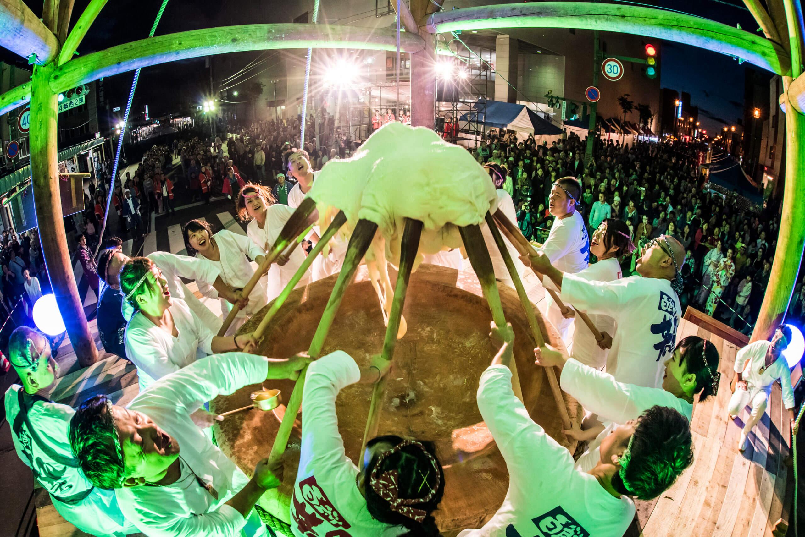北海道・岩見澤的美食祭典「故鄉百餅祭」