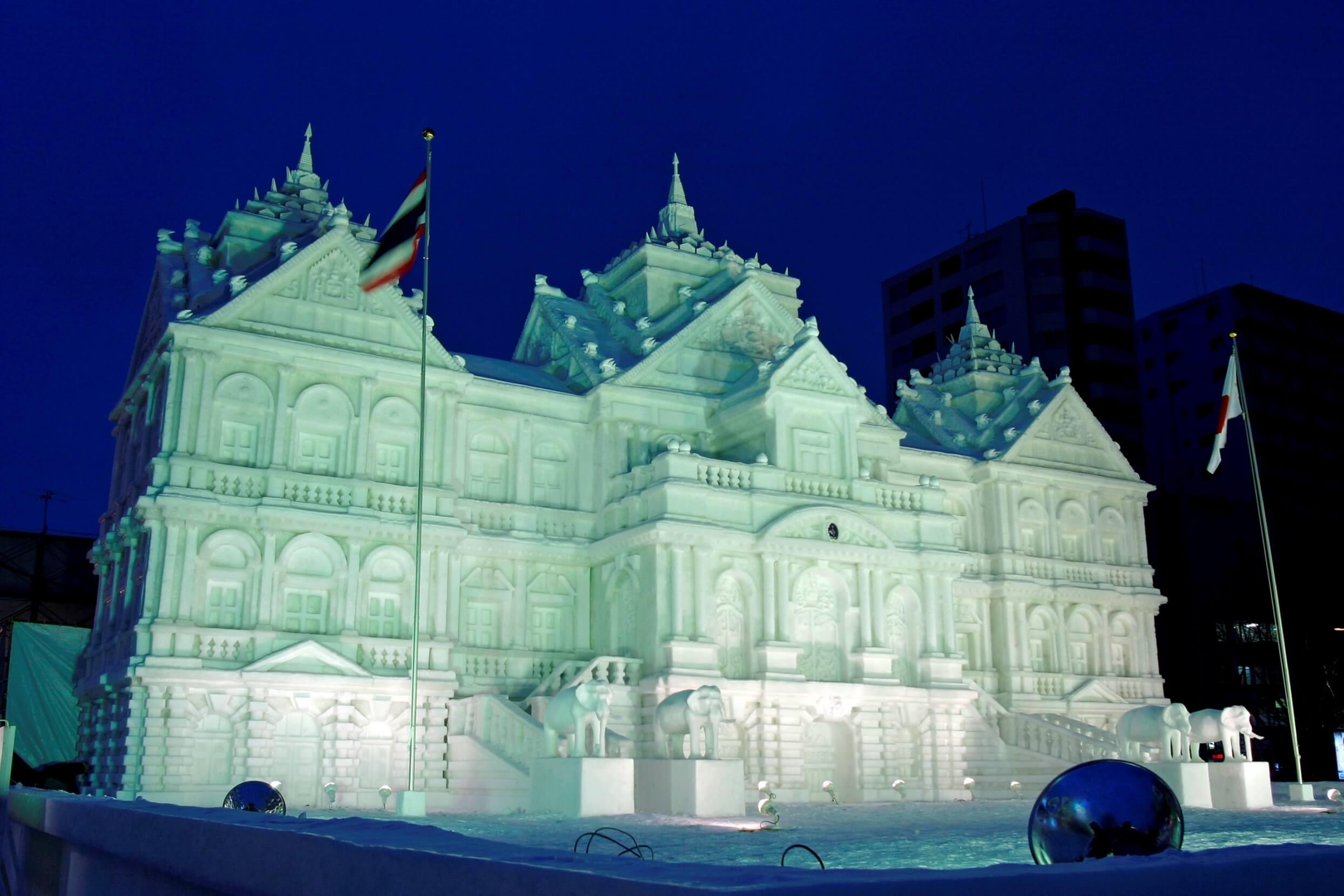 聞名全世界的北海道冬季慶典「札幌雪祭」