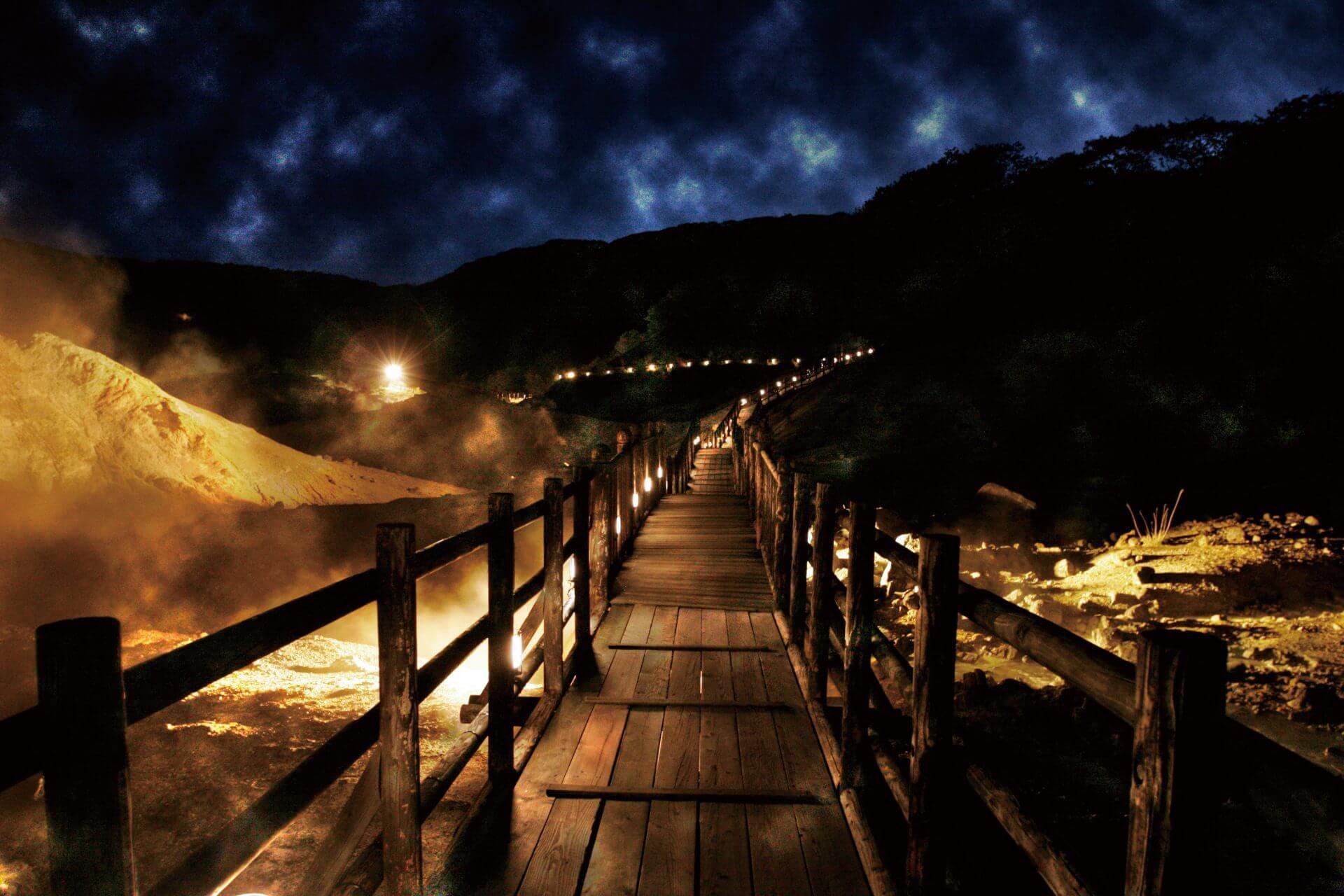 北海道的奇幻峽谷「登別溫泉地獄谷」