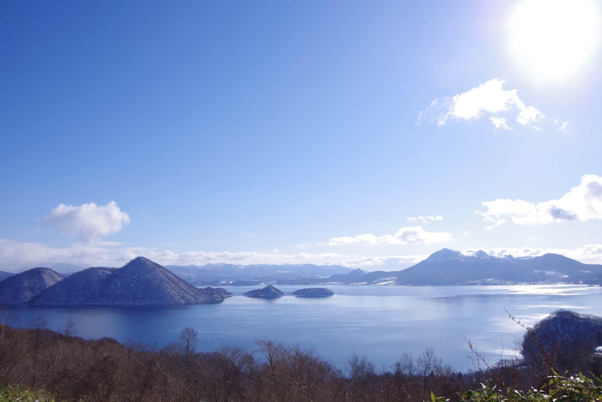 具有湖中之島的日本名湖「洞爺湖」