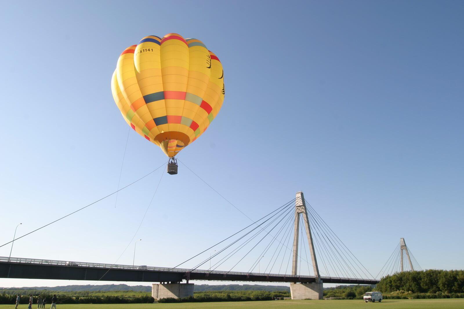 鄰近十勝川溫泉的清晨熱氣球體驗